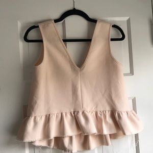 Top with fringed hem